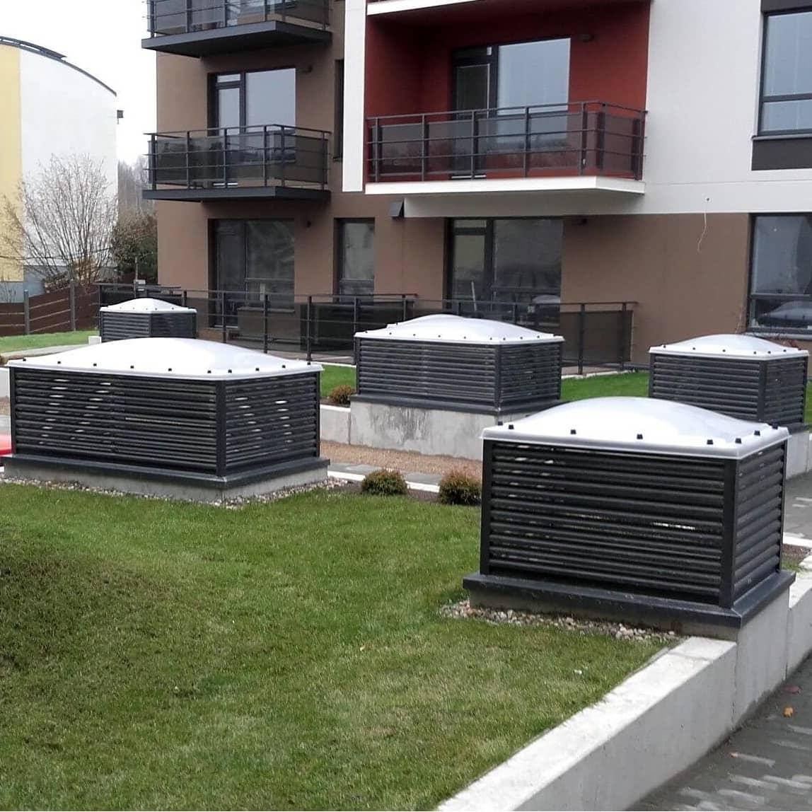 Domino - požeminio parkingo ventiliacinės šachtos  cover